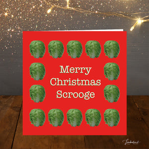Brussels Scrooge Christmas Card