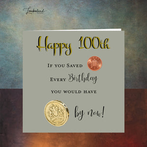 Centenarian 100th Birthday Card