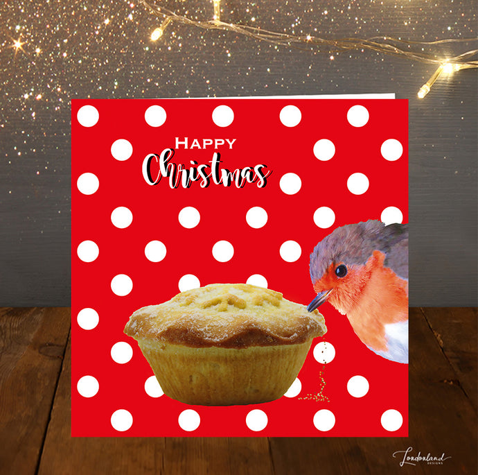 Dotty Bird Food Christmas Card