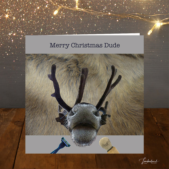 Dude Named Rudolph Christmas Card