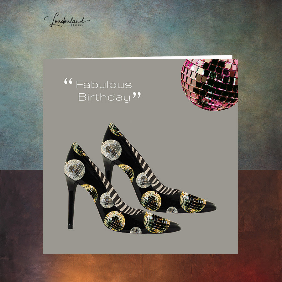 Disco Shoes Birthday Card