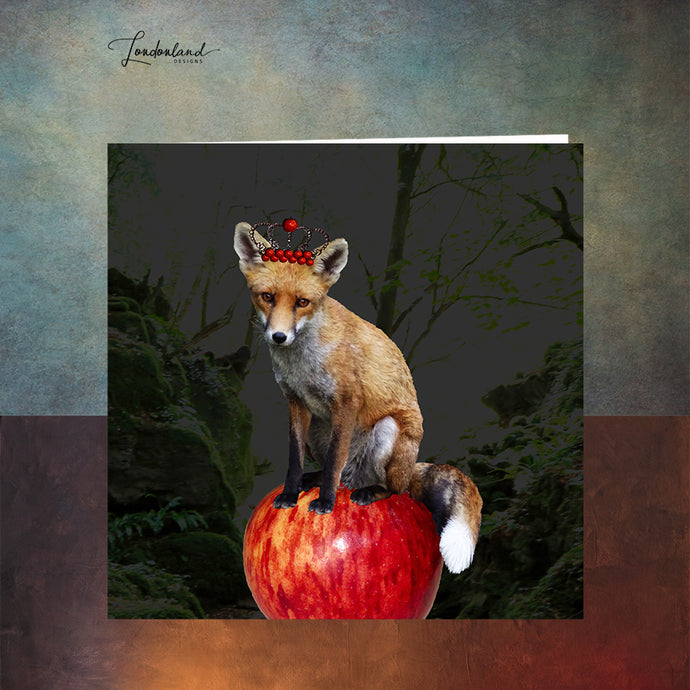Fox and Crown Greeting Card