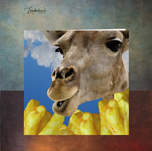 Fry In The Sky Giraffe Chips Greeting Card