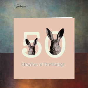 Fifty Shades Blush 50th Birthday Card