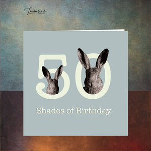 Fifty Shades Blue 50th Birthday Card