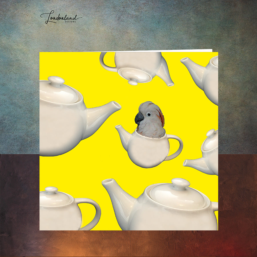 Flying Teapots Greeting Card