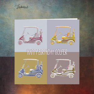 Golf Buggy Birthday Card