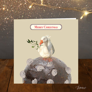 Goose Pudding Christmas Card