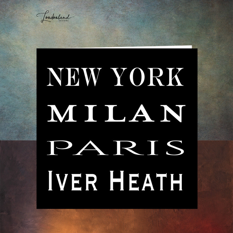Iver Heath Fashion Greeting Card, New York, Paris, Milan