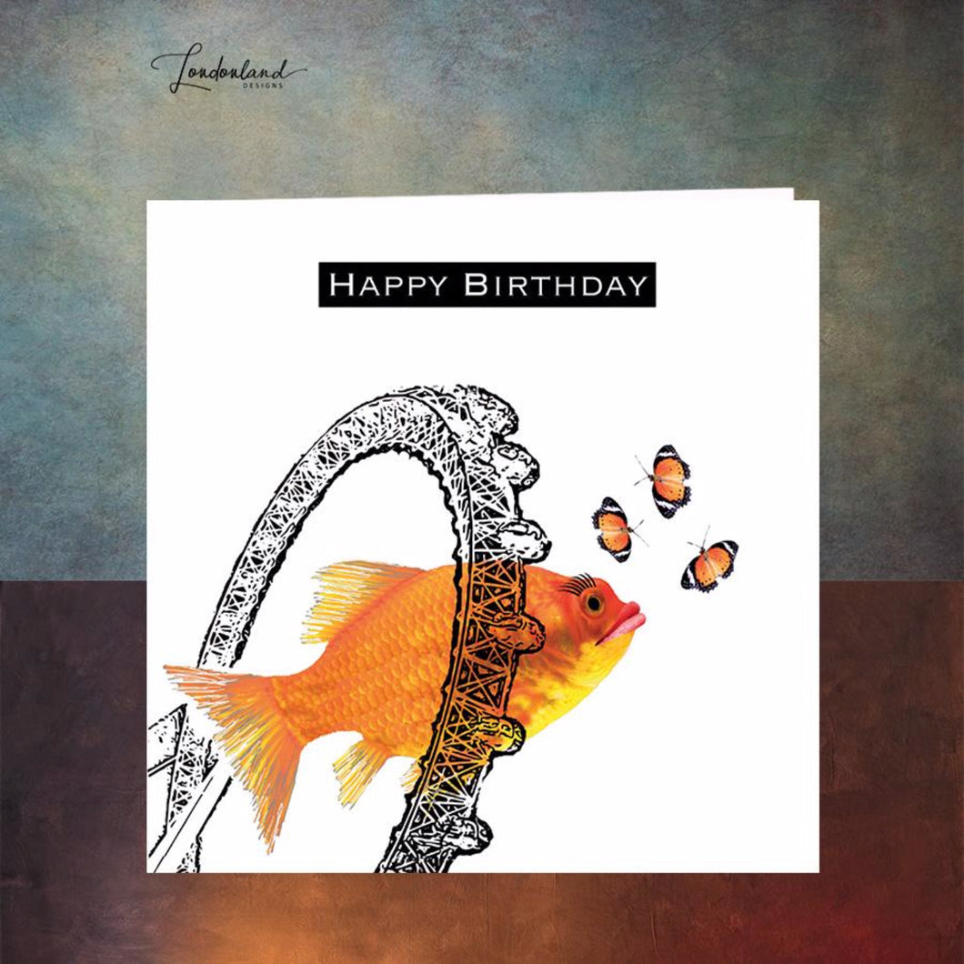 London Fish Eye Birthday Card