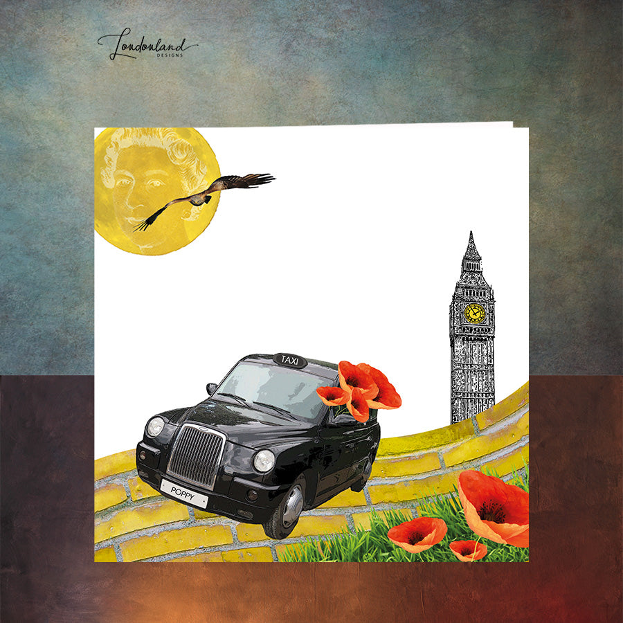 London Poppy Greeting Card