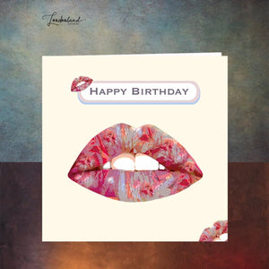 Pucker Up Birthday Card