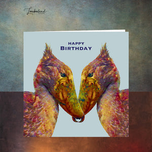 Rainbow Dodo Birthday Card