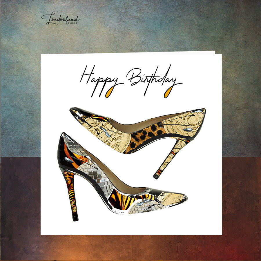 Shoe Diva Birthday Card