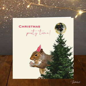 Squirrel Party Christmas Card