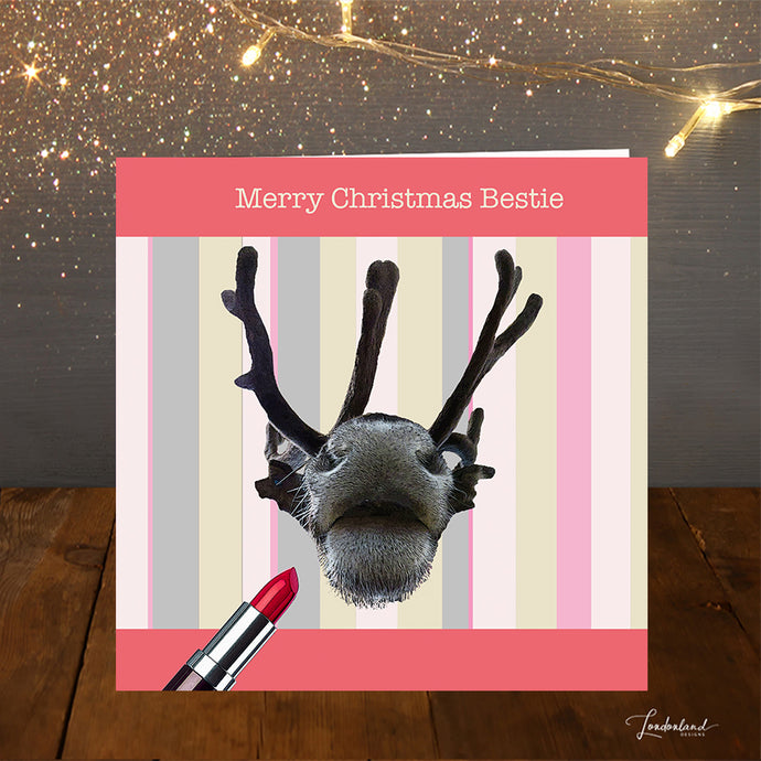 Vixen Loves Lipstick Bestie Christmas Card