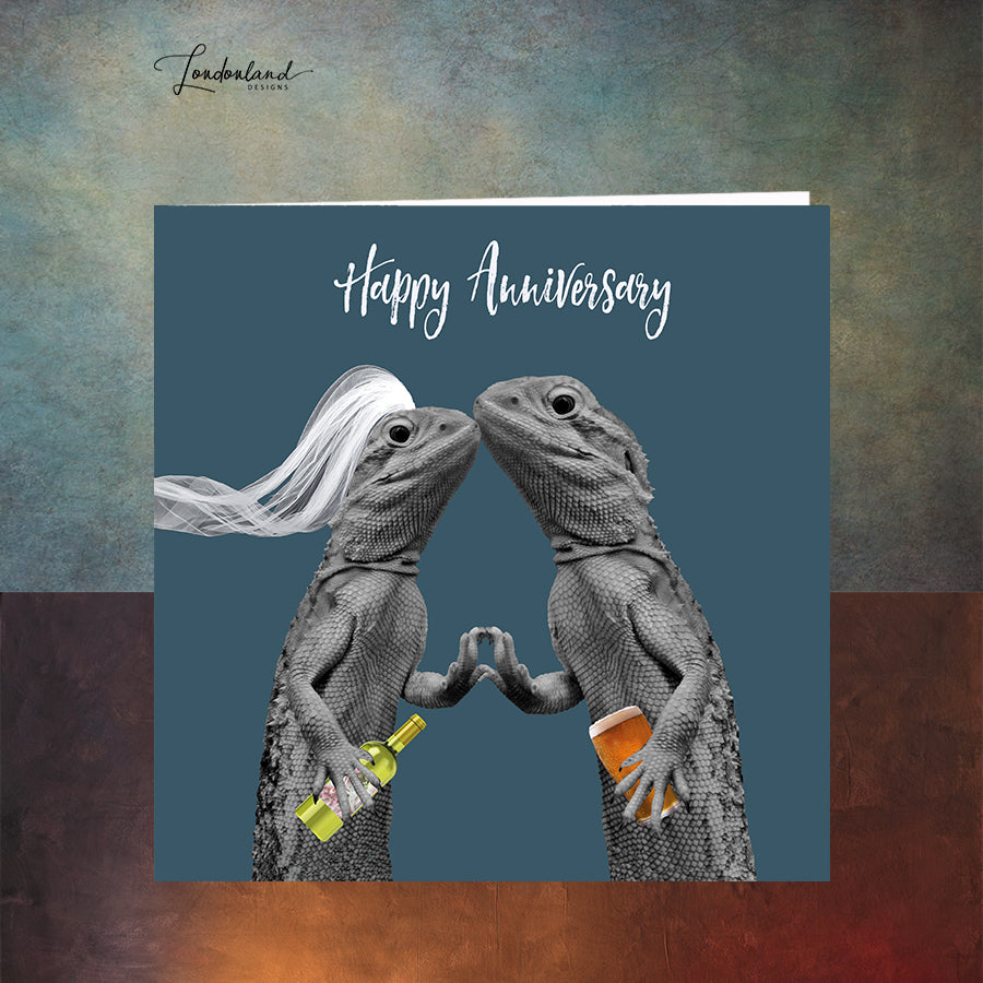 You Old Lizards Anniversary Card