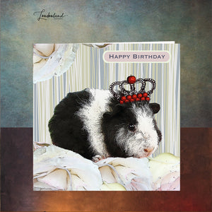 Queen of Pigs Birthday Card