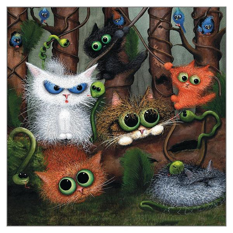 Tamsin Lord Cat Greetings Card - Jungle Fever