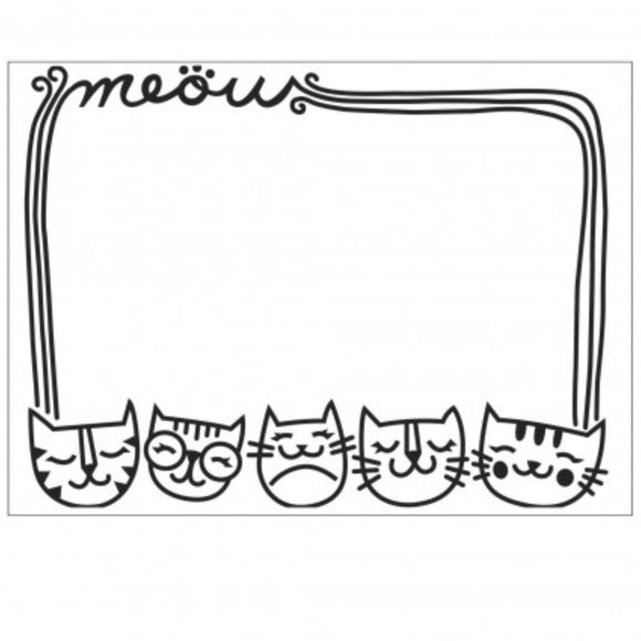 Darice Meow Cat Border Embossing Folder