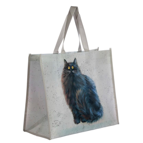 Kim Haskins Black Cat Reusable Shopping Bag