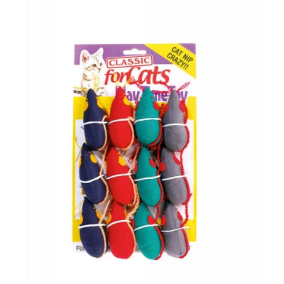 Classic Catnip Mouse Soft Cat Toy with String Tail