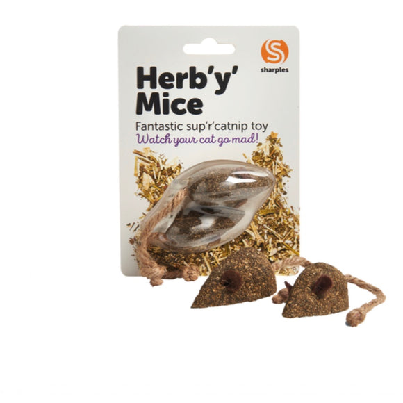 Sharples Catnip Mouse Cat Toy - Pack of 2