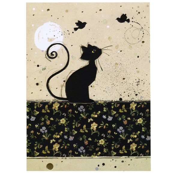 Bug Art Luxury Greetings Card - Chintz Cat
