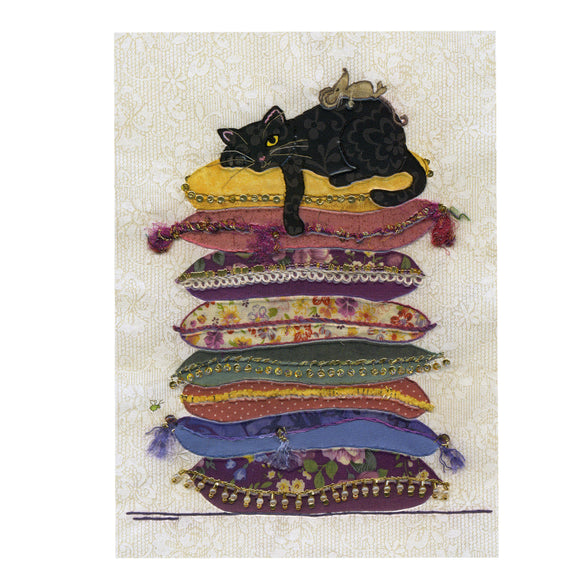 Bug Art Luxury Greetings Card - Cat Cushions