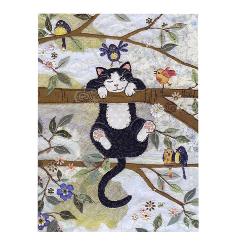 Bug Art Luxury Greetings Card - Tree Cat