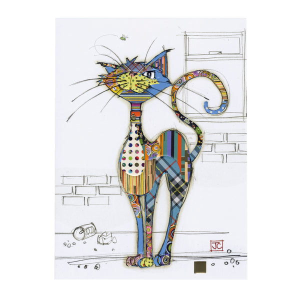 Bug Art Luxury Greetings Card - Cola Cat