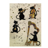 Bug Art Luxury Greetings Card - Four Cool Cats