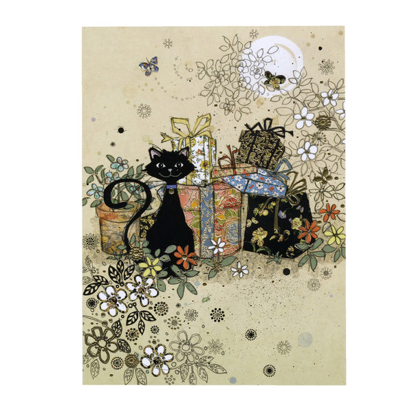 Bug Art Luxury Greetings Card - Garden Gifts Cat