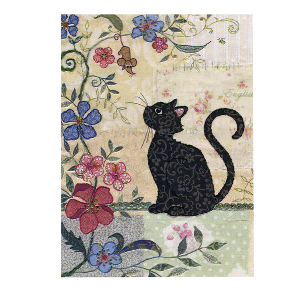 Bug Art Luxury Greetings Card - Cat and Mouse