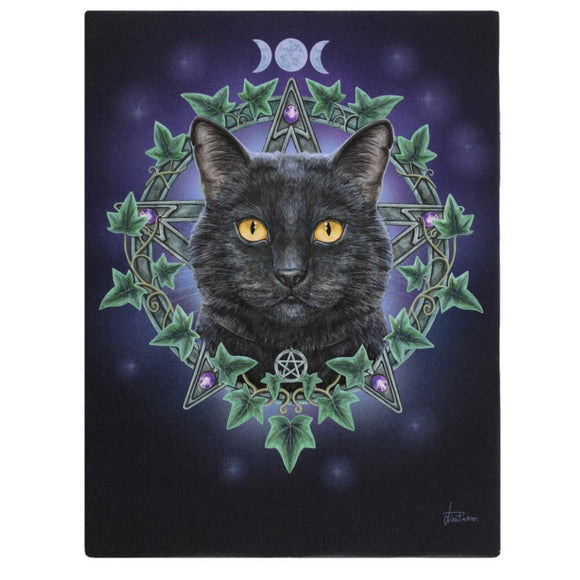 Lisa Parker The Charmed One Canvas Cat Plaque
