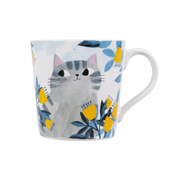 Planet Cat Mug - Grey Cat, Gift Box