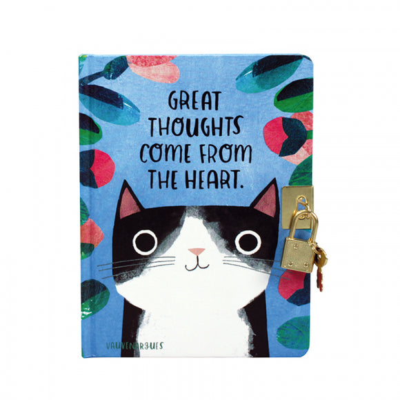 Planet Cat Lockable Hardback Journal / Notebook