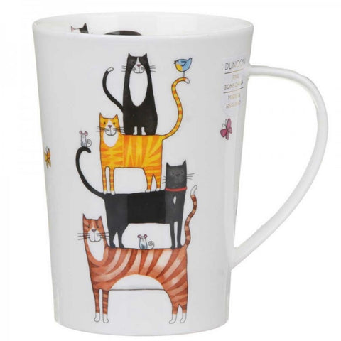 Dunoon Fine Bone China Mug High Rise Cats in Gift Box