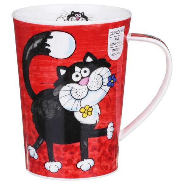 Dunoon Fine Bone China Mug Funny Farm Cats in Gift Box