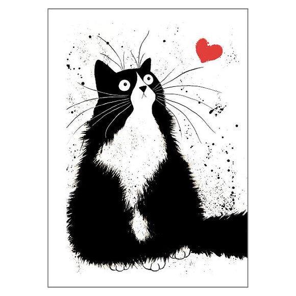 Kim Haskins Sweetheart Cat Greetings Card