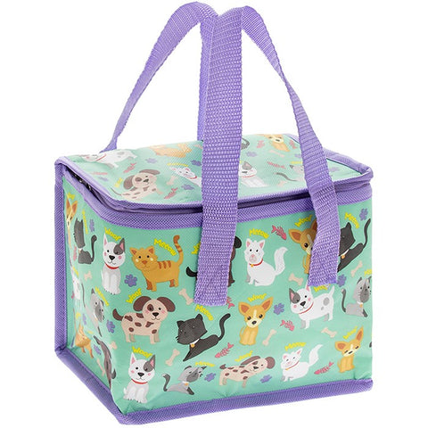 Little Stars Cats & Dogs Insulated Lunch Bag