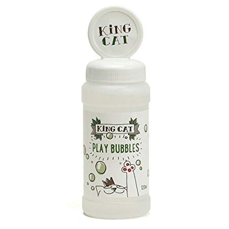 King Cat Catnip Play Bubbles Cat Toy, 120ml