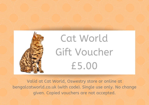 £5 Gift Voucher - Valid Online or In Store