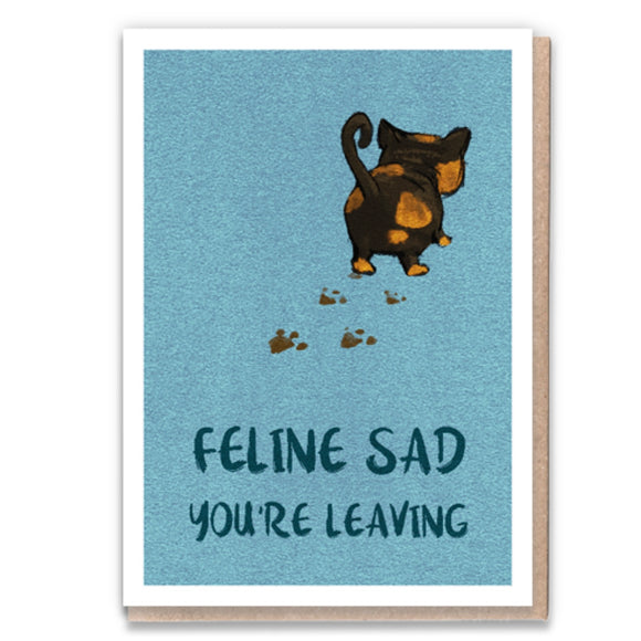 1 Tree Cards Cat Greetings - Feline Sad