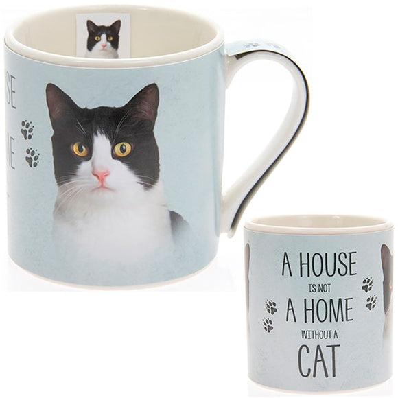 House and Home Mug Black & White Cat