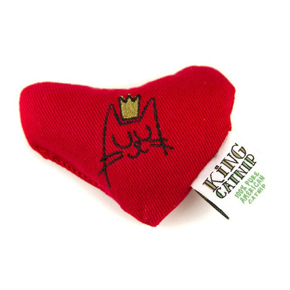 King Cat - Organic Catnip Heart Cat Toy, Refillable