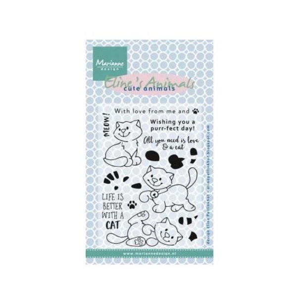 Marianne Design Kittens Clear Acrylic Stamps