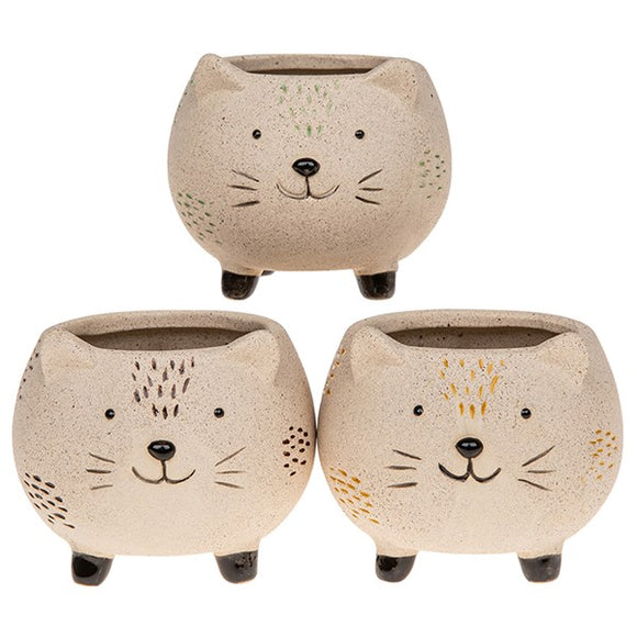Cat Pot Pals - Mini Matt Plant Pot Holder (Single)