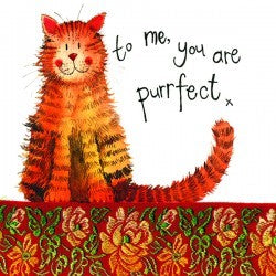 Alex Clark Little Sparkles Cat Card - Purrfect