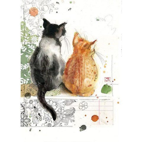 Bug Art Luxury Greetings Card - Two Kittens